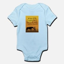 Horse and Child Infant Bodysuit