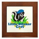 Little Stinker Carl Framed Tile