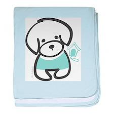 Bichon Frise Puppy baby blanket