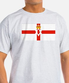 Northern Ireland Flag Ash Grey T-Shirt