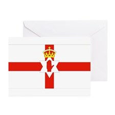 Northern Ireland Flag Greeting Cards (Pk of 10