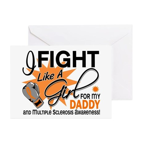 Fight Like A Girl For My MS Greeting Cards (Pk of