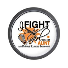 Fight Like A Girl For My MS Wall Clock