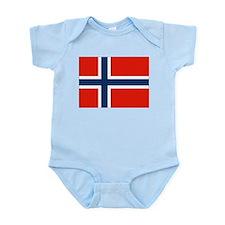 Norwegian Flag Infant Creeper
