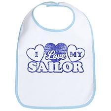 I Love My Sailor Bib