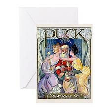 Cute Art nouveau christmas Greeting Cards (Pk of 10)