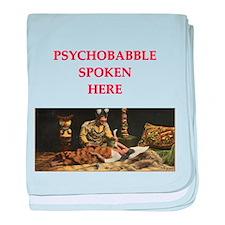 psychology joke baby blanket