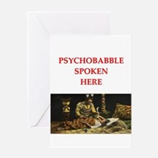 psychology joke Greeting Card