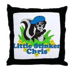 Little Stinker Chris Throw Pillow