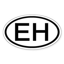 EH - Initial Oval Oval Decal