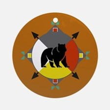 Cherokee Four Directions Bear Ornament (round)