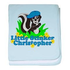 Little Stinker Christopher baby blanket