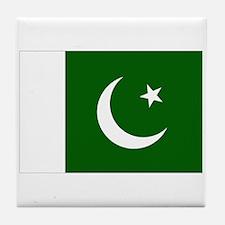 Pakistani Flag Tile Coaster