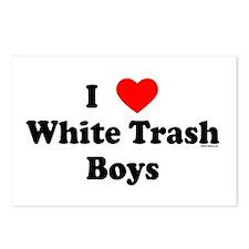I love White Trash Boys Postcards (Package of 8)