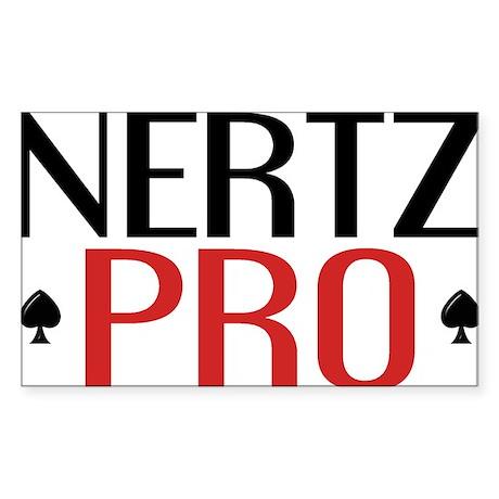 Nertz Pro Sticker (Rectangle)