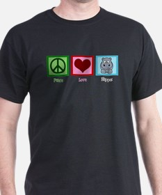 Peace Love Hippos T-Shirt