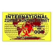 International Zombie Hunting Permit Bumper Stickers