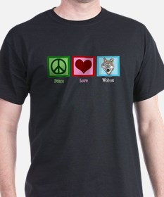 Peace Love Wolves T-Shirt