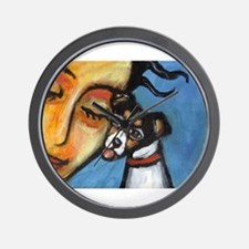 Rattie kisses lady Wall Clock