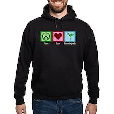 Peace Love Hummingbirds Hoodie