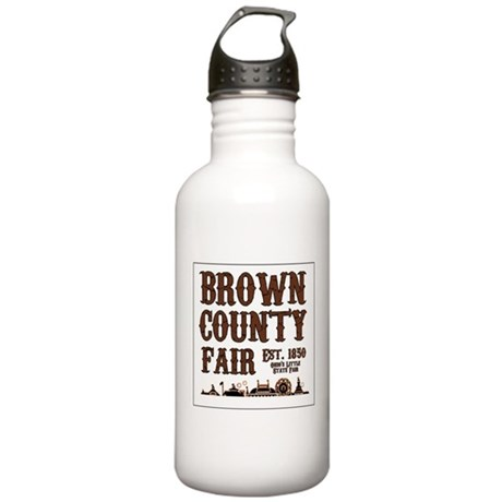 Brown County Fair (Border) Stainless Water Bottle