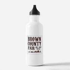 Brown County Fair (Border) Water Bottle