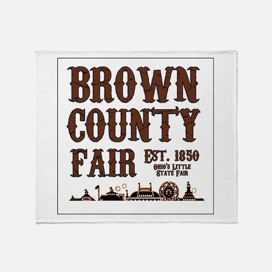 Brown County Fair (Border) Throw Blanket
