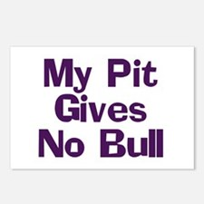 My Pit Gives No Bull Postcards (Package of 8)