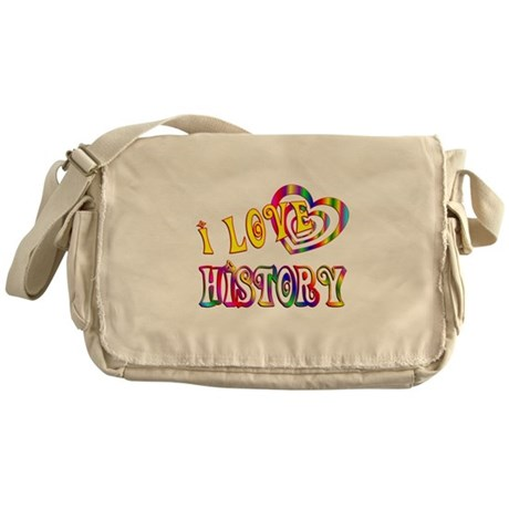 I Love History Messenger Bag