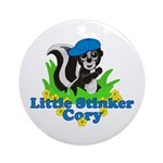 Little Stinker Cory Ornament (Round)