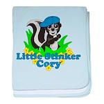 Little Stinker Cory baby blanket