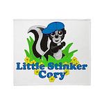 Little Stinker Cory Throw Blanket