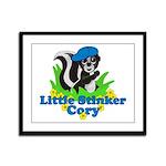 Little Stinker Cory Framed Panel Print