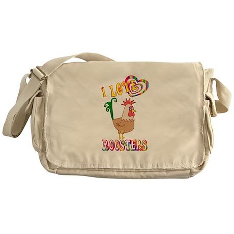 I Love Roosters Messenger Bag