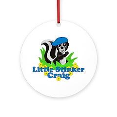Little Stinker Craig Ornament (Round)