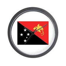 Papua New Guinea Flag Wall Clock