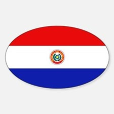 Paraguay Flag Oval Decal