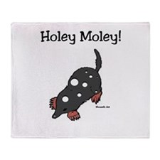 Holey Moley Throw Blanket