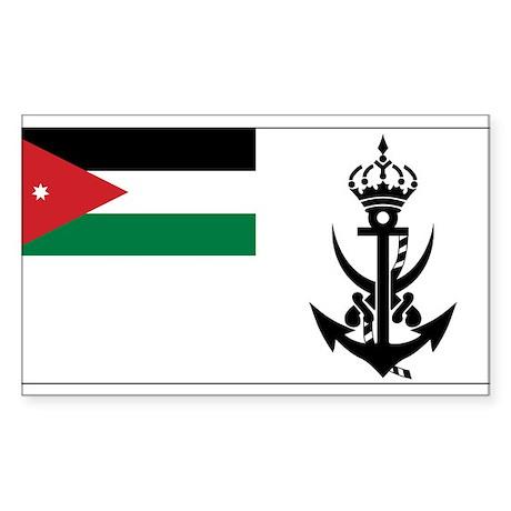 Jordan Naval Ensign Rectangle Sticker