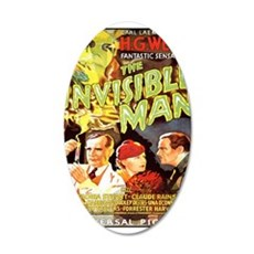 The Invisible Man 22x14 Oval Wall Peel