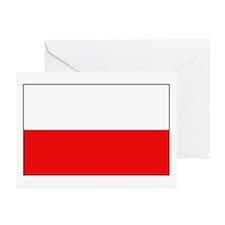 Polish Flag Greeting Cards (Pk of 10)