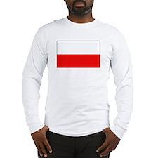 Polish Flag Long Sleeve T-Shirt