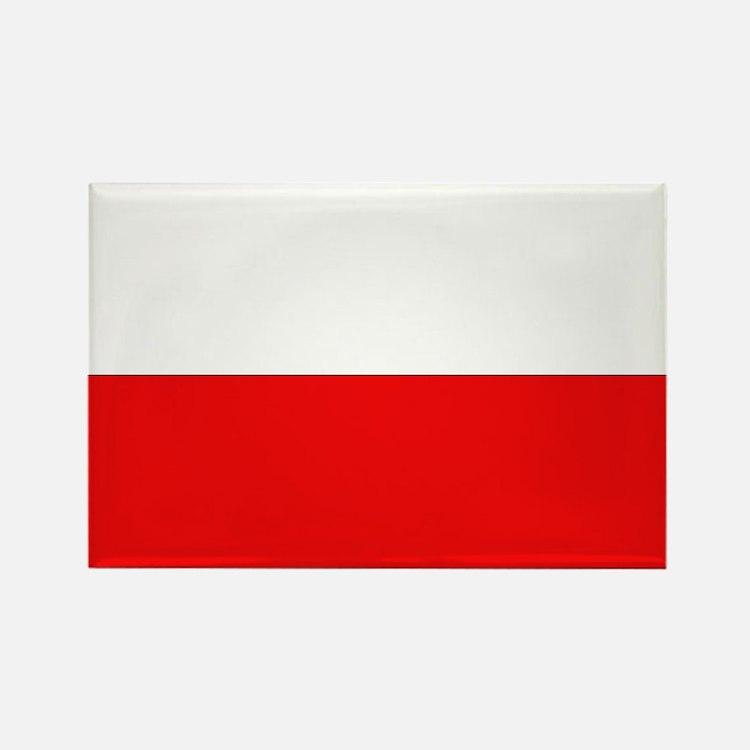 Polish Flag Rectangle Magnet (10 pack)