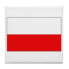 Polish Flag Tile Coaster