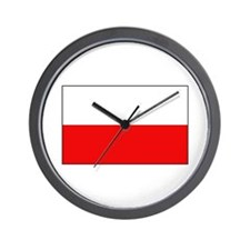 Polish Flag Wall Clock