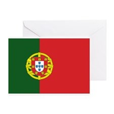 Portugese Flag Greeting Cards (Pk of 10)