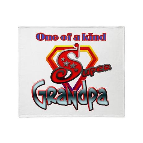SUPER GRANDPA Throw Blanket