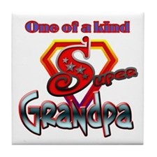 SUPER GRANDPA Tile Coaster