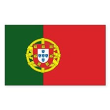 Portugese Flag Rectangle Decal