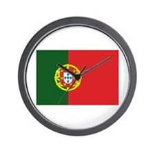 Portugese Flag Wall Clock